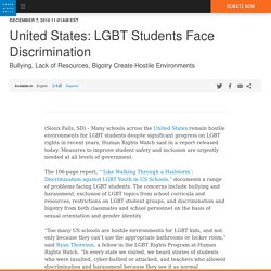 United States: LGBT Students Face Discrimination