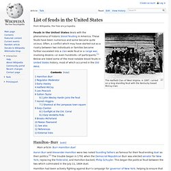 List of feuds in the United States