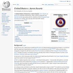 United States v. Aaron Swartz