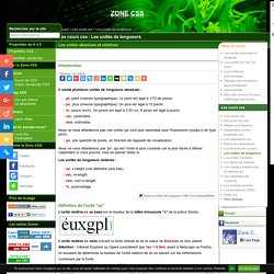 ZONE CSS - Les cours css (Articles CSS V5.0)