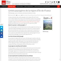 Unités paysagères de la région d'Île-de-France