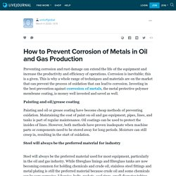 How to Prevent Corrosion of Metals in Oil and Gas Production: unituffglobal — LiveJournal