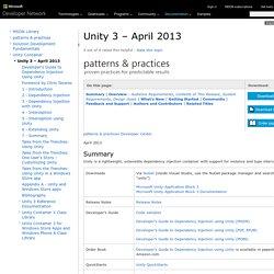 Unity 3 – April 2013