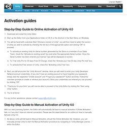 Activation guides