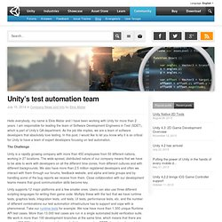 Unity's test automation team