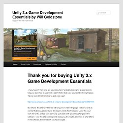 Unity Book - 3.x Game Development Essentials