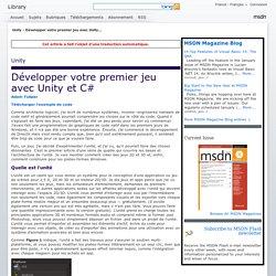 Unity - Développer votre premier jeu avec Unity et C#