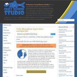 Unity Microphone Input Asset - micInput-lite