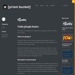 Unity plugin basics · [prism bucket]