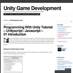 Unity3D Beginners Guide