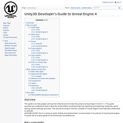 Unity3D Developer's Guide to Unreal Engine 4