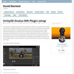 Unity3D Oculus Rift Plugin setup