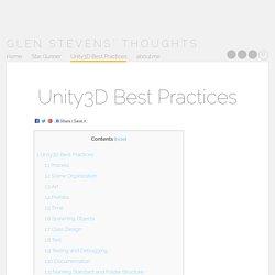 Unity3D Best Practices