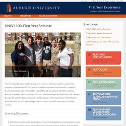 UNIV1100: First Year Seminar