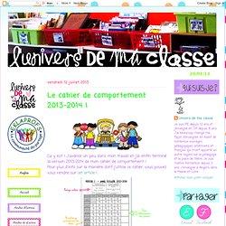 Le cahier de comportement 2013-2014 !