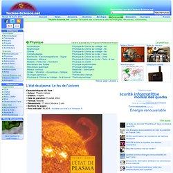 L'état de plasma: Le feu de l'univers - Thierry Lehner - Librairie scientifique en ligne
