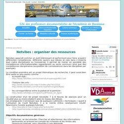 Netvibes : organiser des ressources