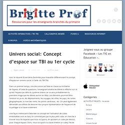 Univers social: Concept d'espace sur TBI au 1er cycle