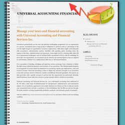Fort Lauderdale Accountant Available at Universal Accounting & Financial Services Inc