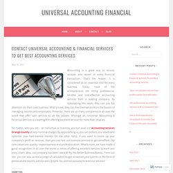 Contact Universal Accounting & Financial Services To Get Best Accounting Services