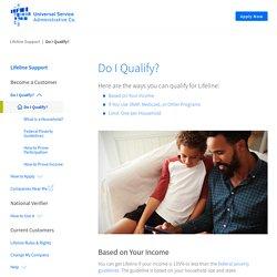Do I Qualify? - Universal Service Administrative Company