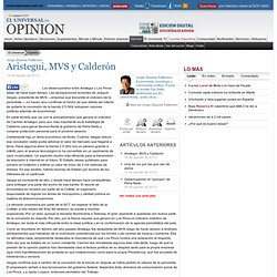 Aristegui, MVS y Calderón