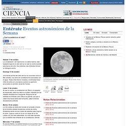 Ciencia - Entérate Eventos astronómicos de la Semana