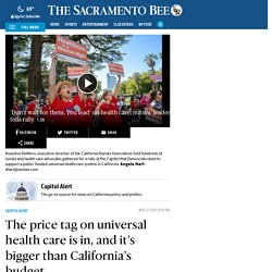 Universal health care cost in California $400 billion a year