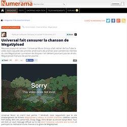 Universal fait censurer la chanson de MegaUpload