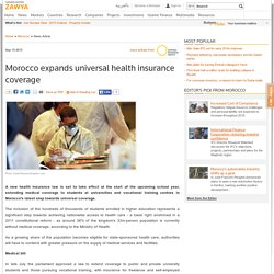 Morocco expands universal health insurance coverageMorocco