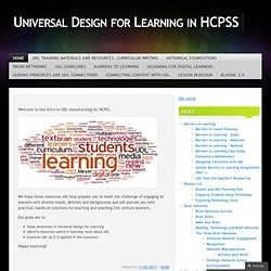 Universal Design for Learning in HCPSS