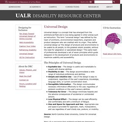 Universal Design - Disability Resource Center