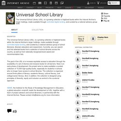 Universal School Library : Free Texts : Free Download, Borrow and Streaming