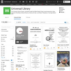 Internet Archive: Universal Library