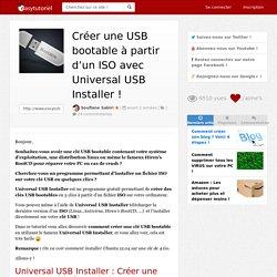 Créer une USB bootable à partir d'un ISO avec Universal USB Installer