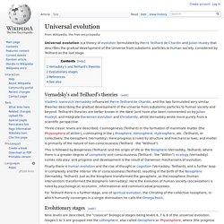 Universal evolution