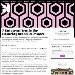 7 Universal Truths for Ensuring Brand Relevance