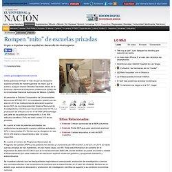 """Rompen """"mito"""" de escuelas privadas - El Universal - Nación"""