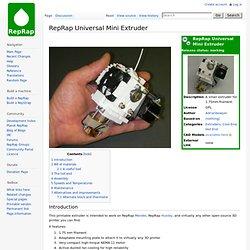 Universal Mini Extruder - RepRapWiki - Nightly