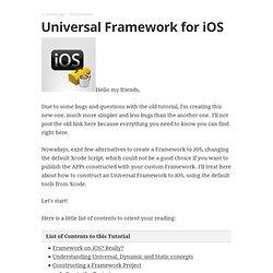 Universal Framework iPhone iOS (2.0)
