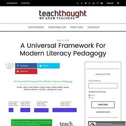 A Universal Framework For Modern Literacy Pedagogy