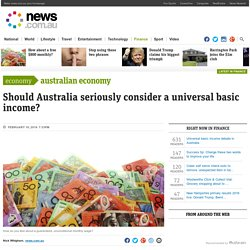 Universal basic income debate in Australia