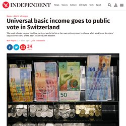 Universal basic income goes to public vote in Switzerland
