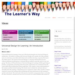 Universal Design for Learning: An Introduction