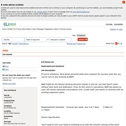 Universal Jobmatch jobs and skills search - Job details