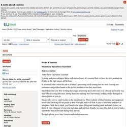 Universal Jobmatch jobs and skills search - Job details