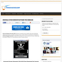 Universal Keygen Generator 2014