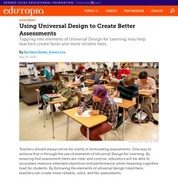How to Use Universal Design for Learning to Create Better Assessments