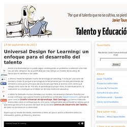 Universal Design for Learning: un enfoque para el desarrollo del talento