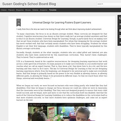 Universal Design for Learning Fosters Expert Learners
